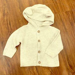 Carter's oatmeal cardigan sweater hoodie